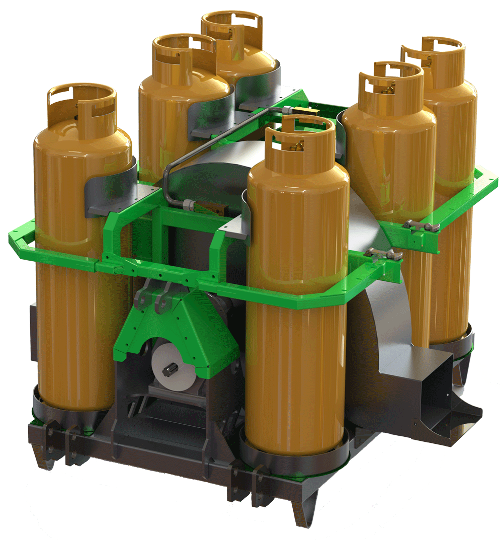 F252 with 6 gas bottles